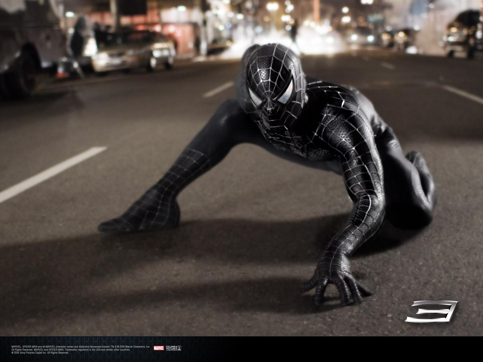Wallpaper Peter sombre pret a bondir Spiderman