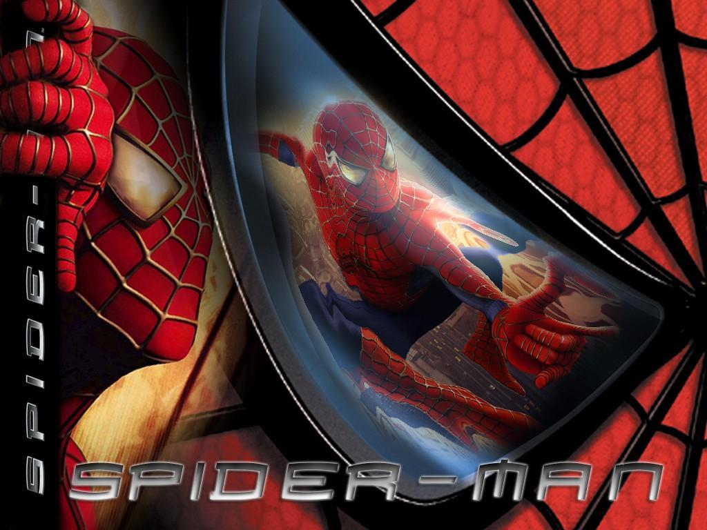 Wallpaper accrochage aux immeubles Spiderman
