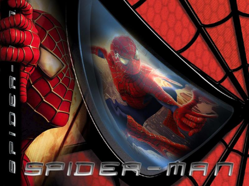 Wallpaper accrochage aux immeubles Spiderman