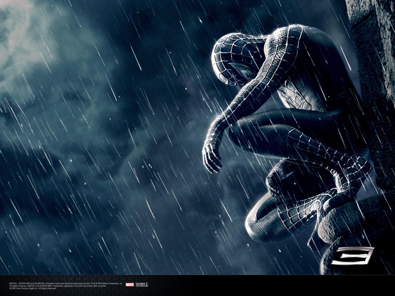 Wallpaper Spiderman gargouille costume noir