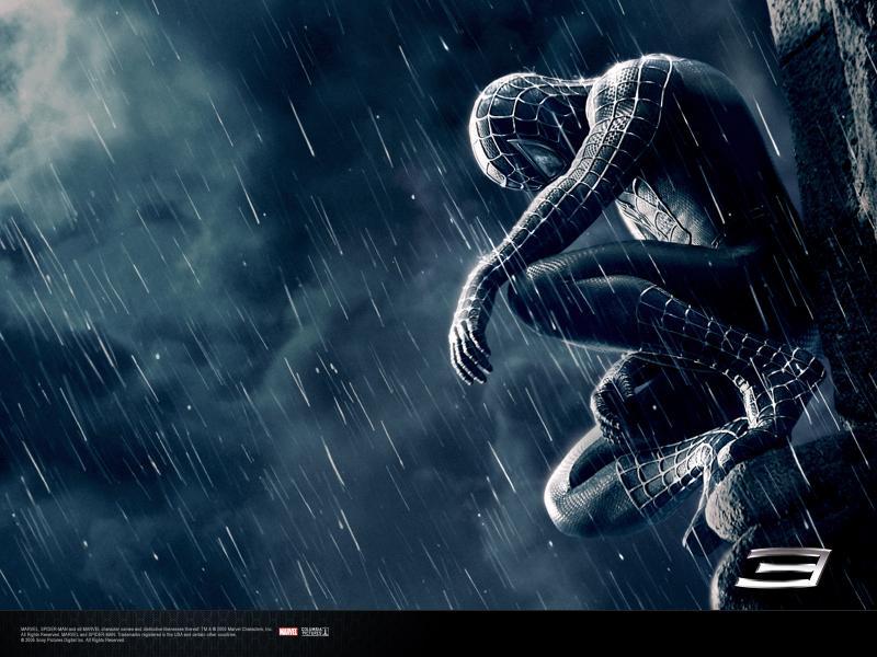 Wallpaper gargouille costume noir Spiderman