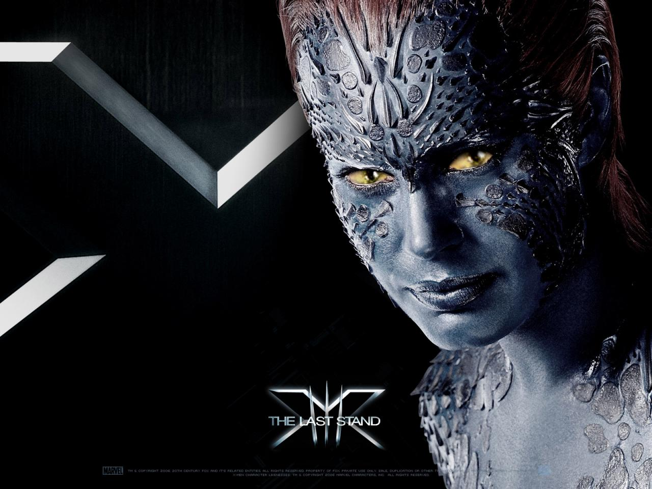 Wallpaper Mystique Rebecca Romijn X-men