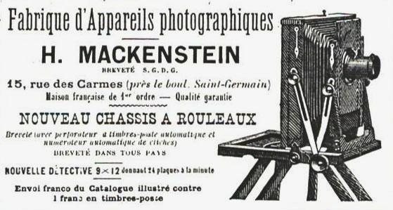Wallpaper Appareils photos 0791-10  MACKENSTEIN . H  Chambre 13X18