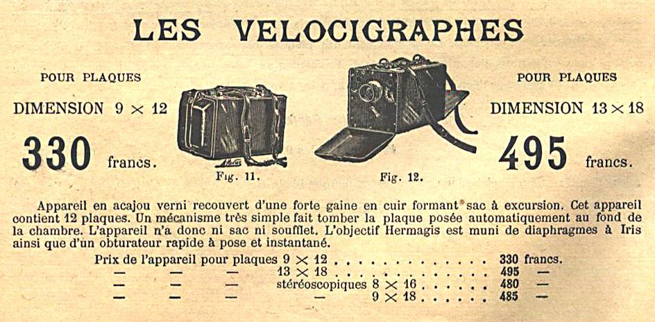Wallpaper Appareils photos 1185-27 HERMAGIS Velocigraphe 13X18, collection AMI