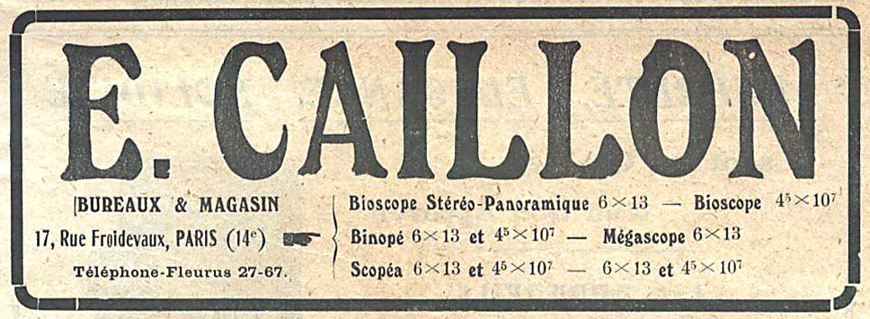 Wallpaper 1328-8  CAILLON  Bioscope  stereo 45X107, collection AMI Appareils photos