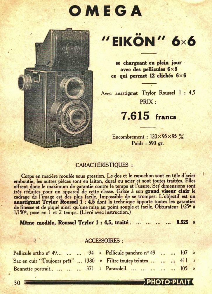 Wallpaper Appareils photos 1484-5  FOTOKIN  Eikon omega 6X6, collection AMI