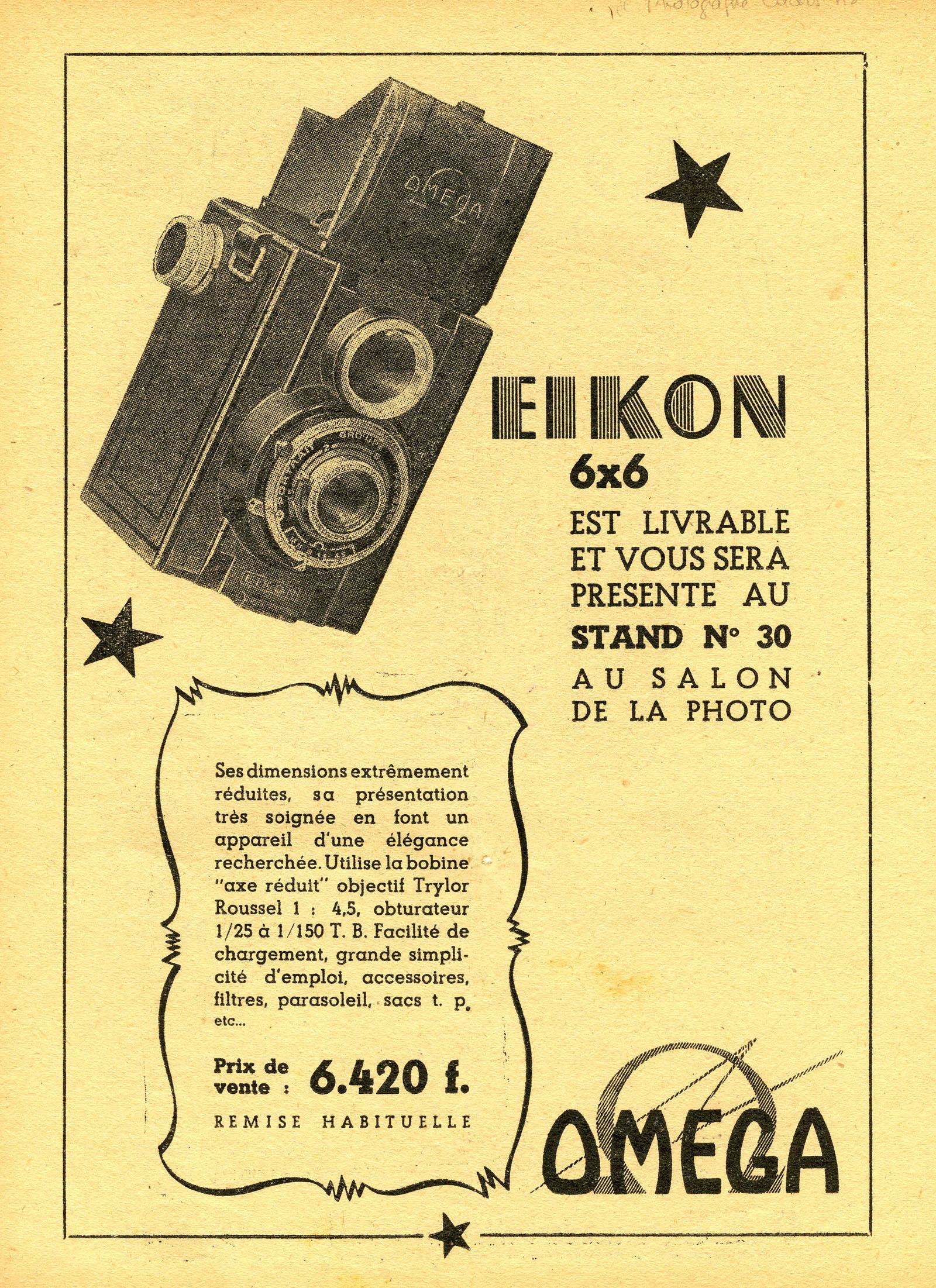 Wallpaper 1484-7  FOTOKIN  Eikon omega 6X6, collection AMI Appareils photos