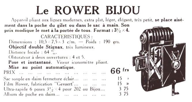 Wallpaper 2370-13 ROWER Bijou, documentation 1937, collection AMI Appareils photos