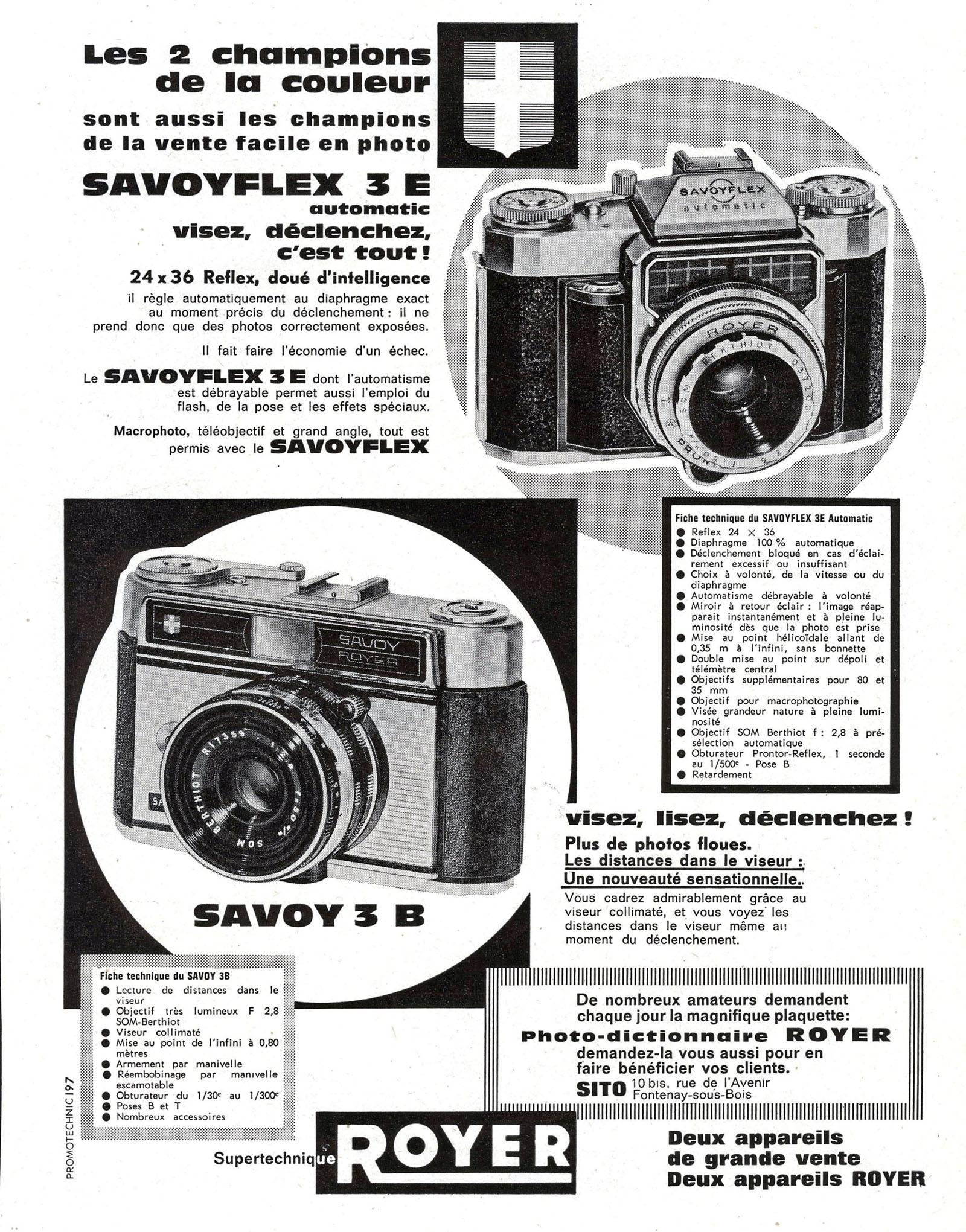 Wallpaper 1414-3  SITO ROYER  Savoyflex 3E automatic, collection AMI Appareils photos