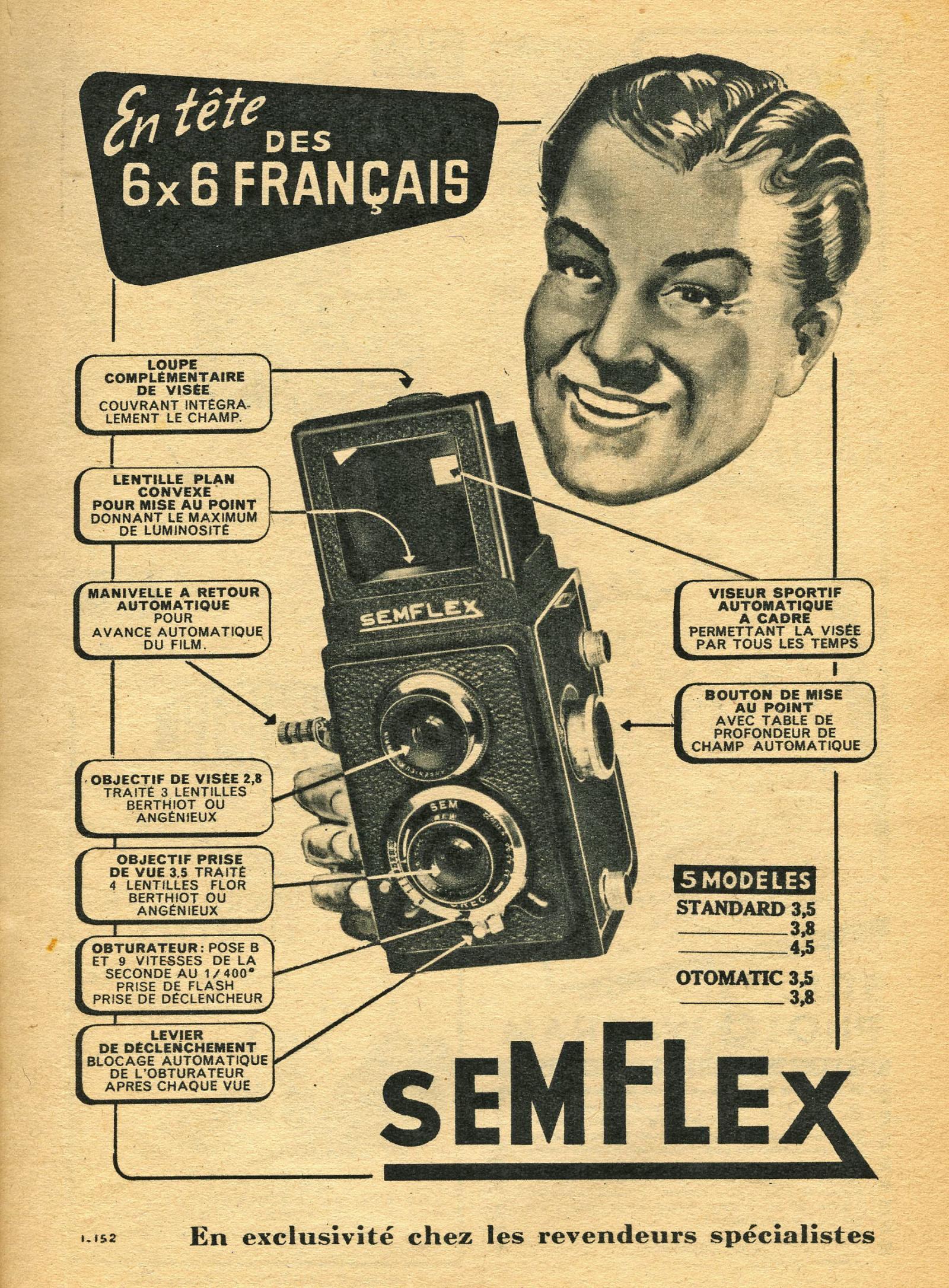 Wallpaper Appareils photos 1495-21  SEM  Semflex S2 3,5 standard, collection AMI