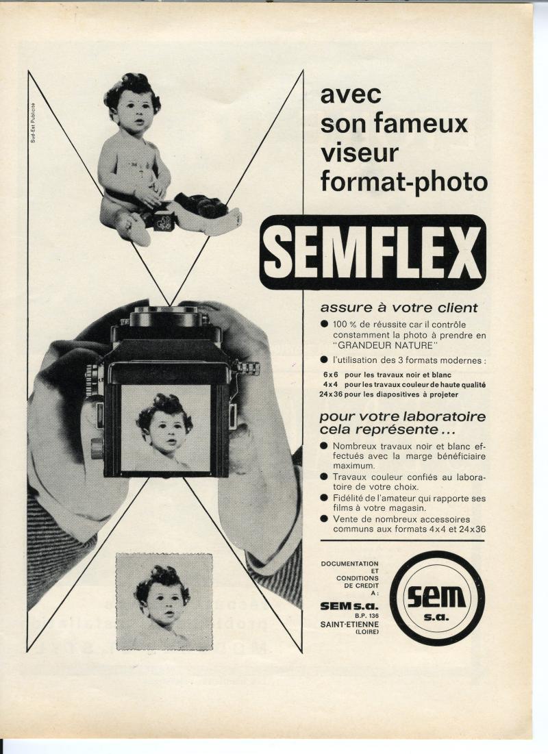Wallpaper Appareils photos 1495-8  SEM  Semflex S2 3,5 standard, collection AMI