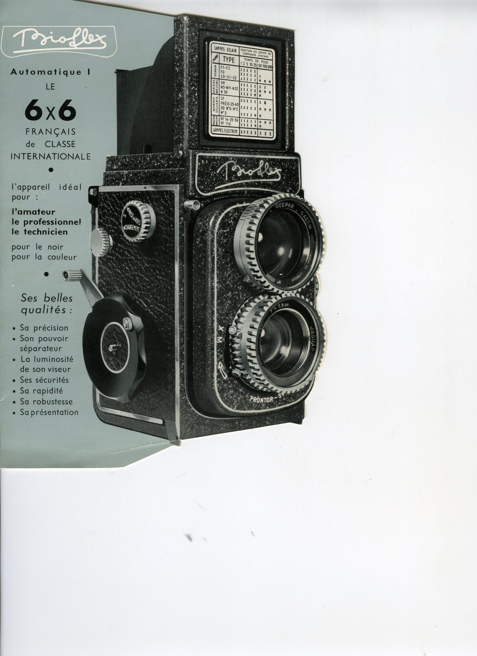 Wallpaper 2069-25  ALSAPHOT  Bioflex 1er modele, collection AMI Appareils photos