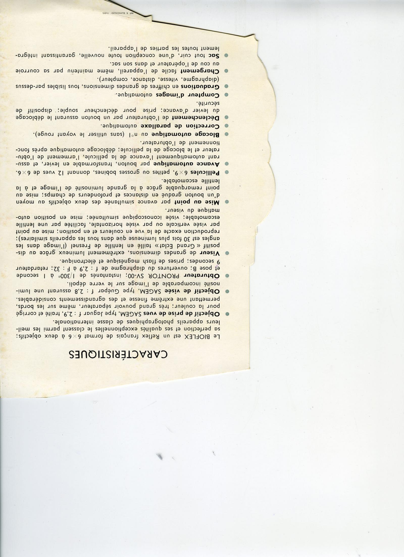 Wallpaper 2069-29  ALSAPHOT  Bioflex 1er modele, collection AMI Appareils photos