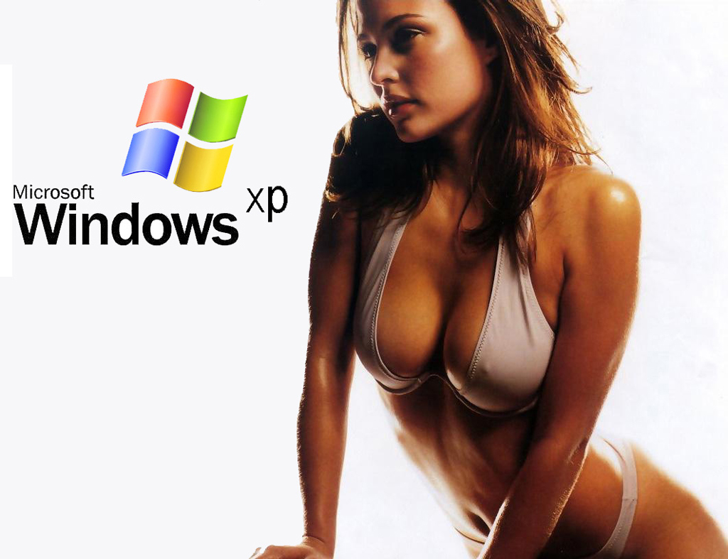 Wallpaper Theme Windows XP Sexy jolie fille