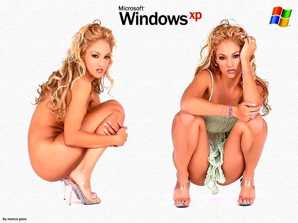 Wallpaper Theme Windows XP Sexy jolie fille