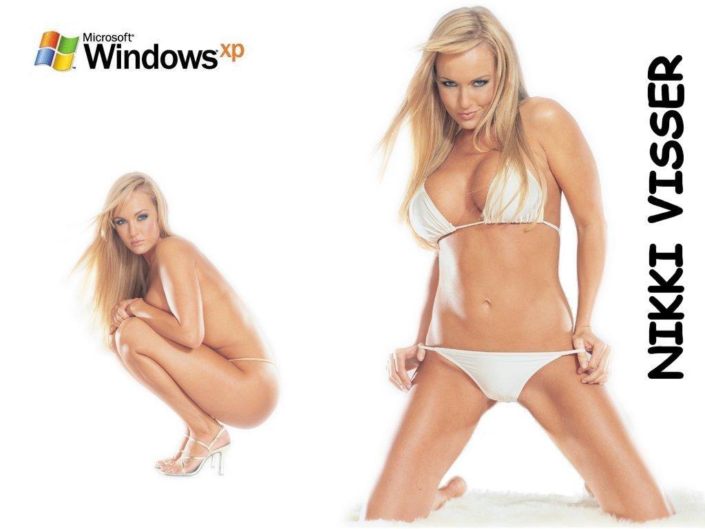 Wallpaper nikki visser Theme Windows XP Sexy