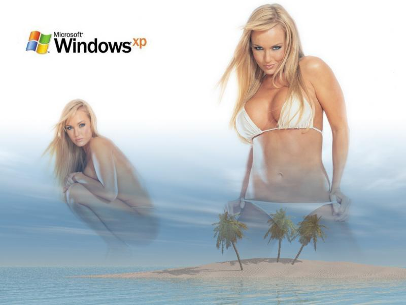 Wallpaper nikki visser Theme Windows XP Sexy