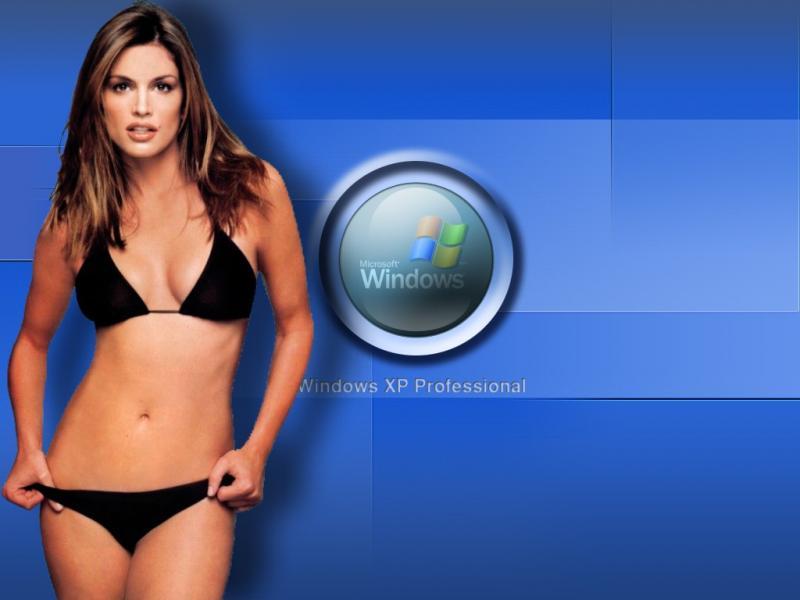 Wallpaper Theme Windows XP Sexy tenue legere