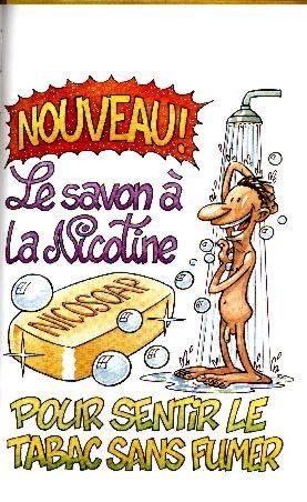 Wallpaper Humour & Insolite savon a la nicotine