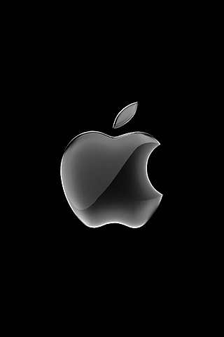 Wallpaper Design Apple black iPhone