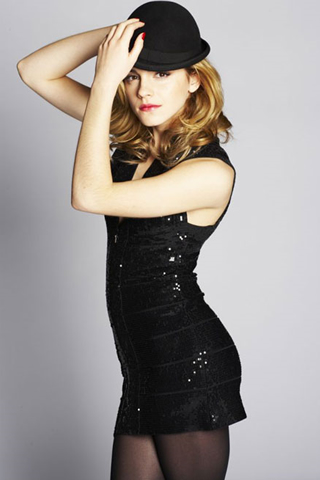 Wallpaper iPhone Emma Watson sexy chapeau melon