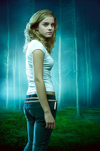 Wallpaper iPhone Emma Watson sexy univers Harry Potter