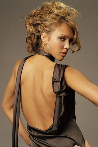 Wallpaper iPhone Jessica Alba tenue de soiree