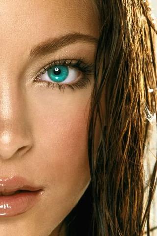 Wallpaper iPhone Kristin Kreuk regard jolies yeux