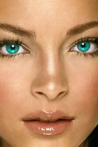 Wallpaper Kristin Kreuk regard yeux iPhone