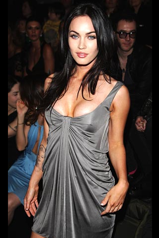 Wallpaper iPhone Megan Fox tenue soiree