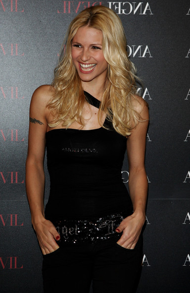 Wallpaper Michelle Hunziker sourire iPhone