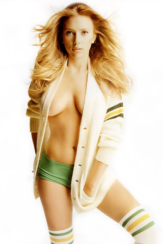 Wallpaper iPhone Scarlett Johansson sport