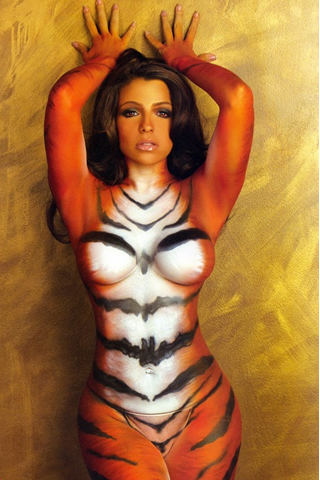 Wallpaper iPhone Vida Guerra body painting