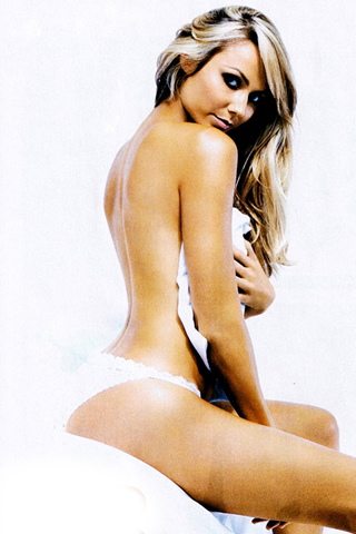 Wallpaper iPhone stacy keibler sexy sur le lit