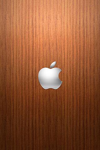 Wallpaper Design Apple logo bois iPhone