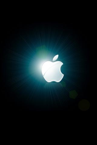 Wallpaper Design Apple logo lumineux iPhone