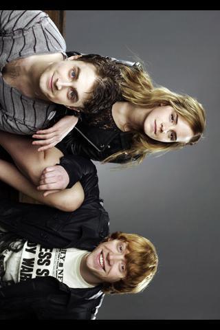 Wallpaper Emma Watson avec Daniel Radcliffe et Rupert Grint iPhone