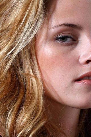 Wallpaper Kristen Stewart portrait sexy blonde iPhone