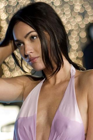 Wallpaper Megan Fox seins mouilles iPhone