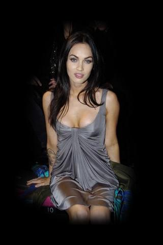 Wallpaper Megan Fox tenue soiree iPhone