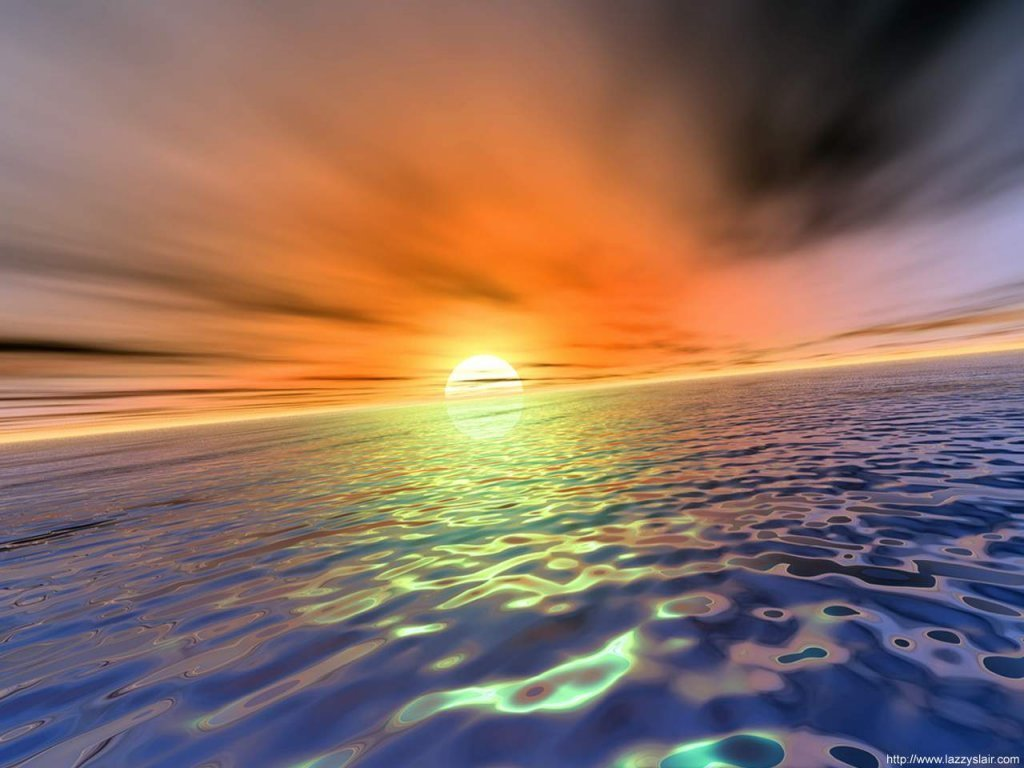 Wallpaper coucher de soleil Design Web