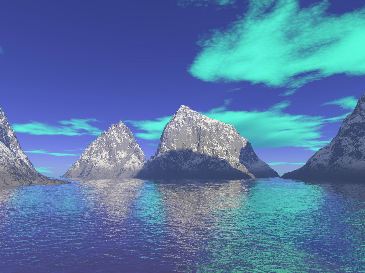 Wallpaper montagne Design Web