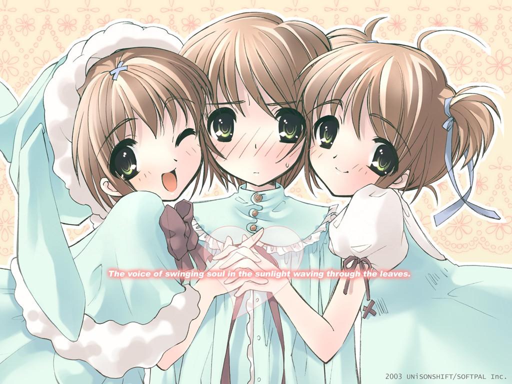 Wallpaper petites filles Manga