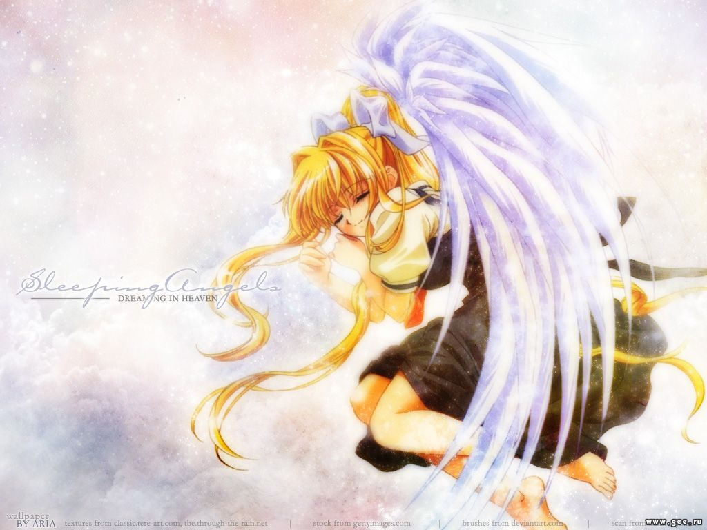 Wallpaper Manga sleeping angels