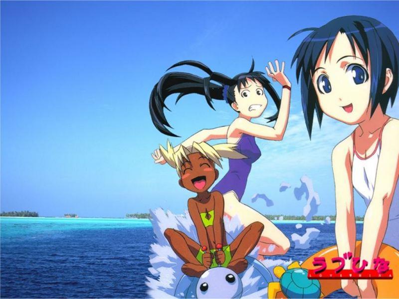 Wallpaper 3 filles Manga
