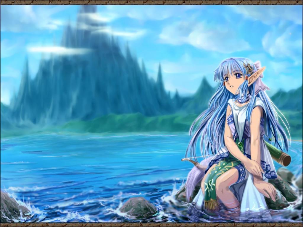 Wallpaper beau paysage Manga