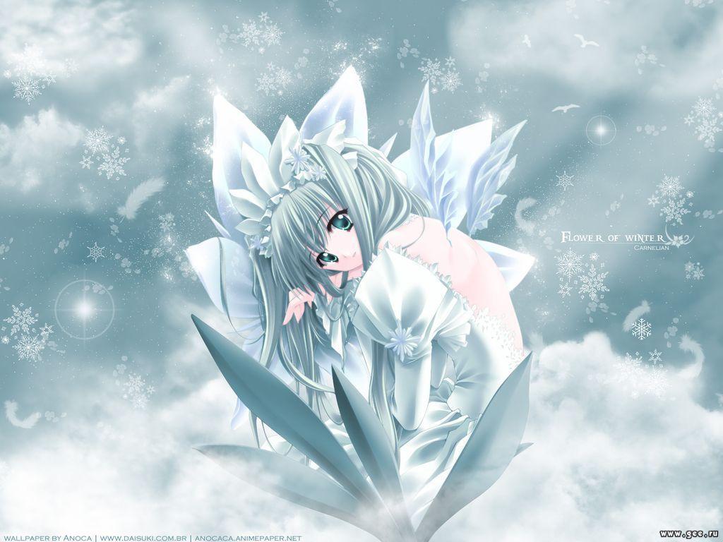 Wallpaper flower of winter Manga