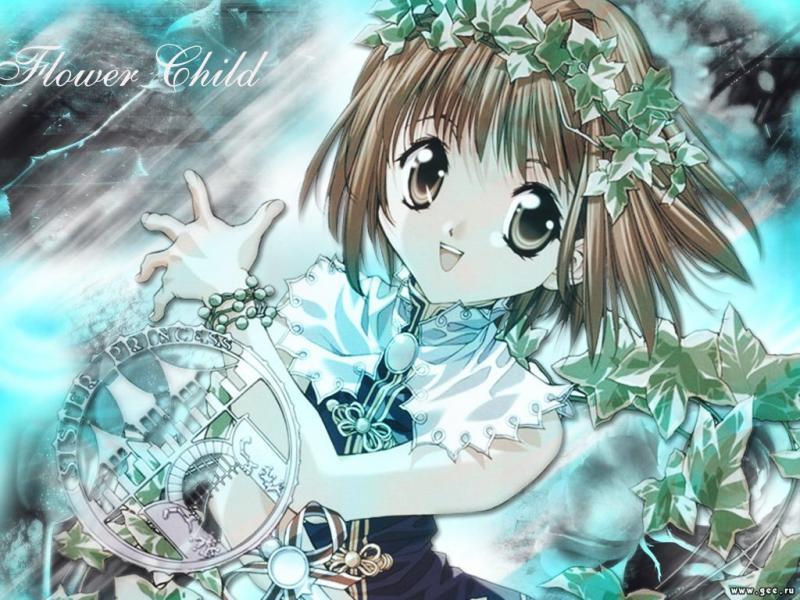 Wallpaper flowers child Manga