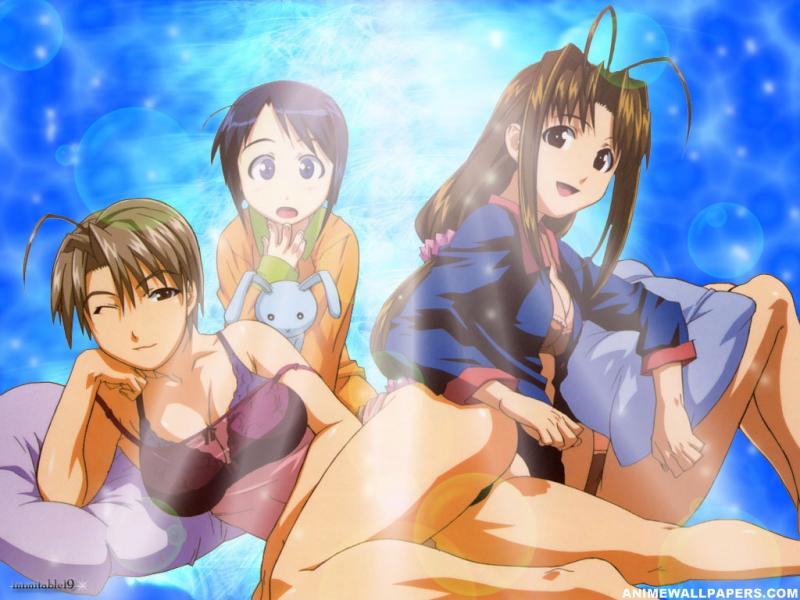 Wallpaper love hina Manga