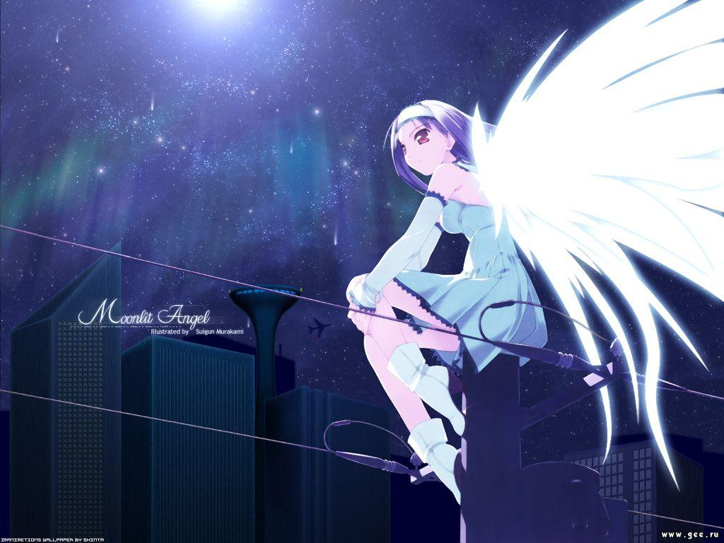 Wallpaper Manga moonlit angel